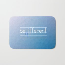 Be Different Typography Design Bath Mat
