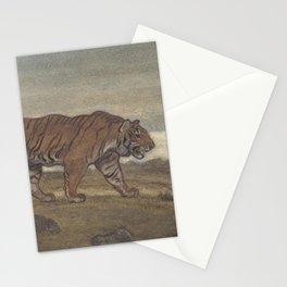 Vintage Illustration of a Striped Tiger (1875) Stationery Cards