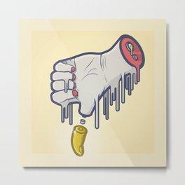 Thumbs Down Metal Print