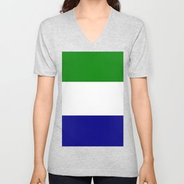 Flag of Sierra Leone Unisex V-Neck