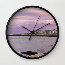 pigeon cove sunset Wall Clock