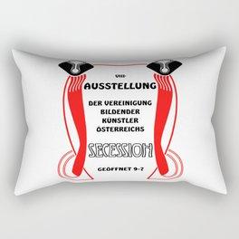 Retro vintage Wiener Vienna Secession exposition Rectangular Pillow