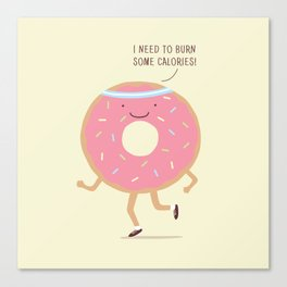 The Donut workout Canvas Print