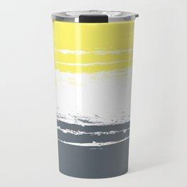 Color Blocks Pairing - Yellow & Petroleum Blue Travel Mug