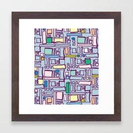 Pastel Block Framed Art Print