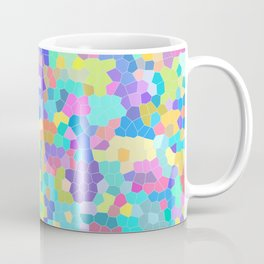 Stained glass print, colorful crystals, vector art Coffee Mug