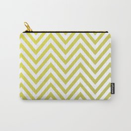Geometric Lines Pattern Yellow / Golden Carry-All Pouch
