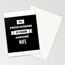 Wife,husband funny tshirt gift idea Stationery Cards