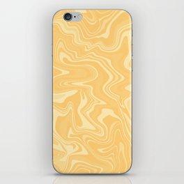 Yellow Liquid Marble iPhone Skin