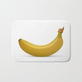 Banana isolated on white background Bath Mat