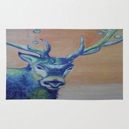 Blue Reindeer by Amit Grubstein  Rug