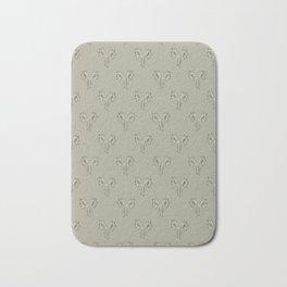 Floral Print Drawing Pattern Bath Mat