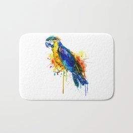 Parrot Watercolor Bath Mat