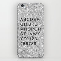 helvetica iPhone & iPod Skins featuring Helvetica Jumble by SpareType