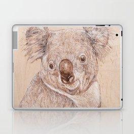 Koala Bear - Drawing by Burning on Wood - Pyrography Art Laptop & iPad Skin
