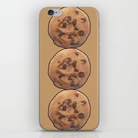 cookie iPhone & iPod Skins featuring Cookie by Spooky Dooky