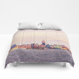 Perfect Day - New York City Skyline Comforters