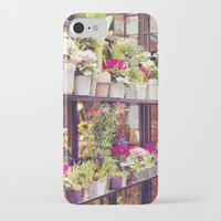 outdoor iPhone & iPod Cases featuring Outdoor Paris Flower Market by Christy Simmons