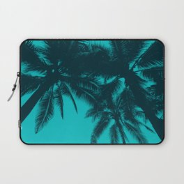 Blue palms in summer Laptop Sleeve