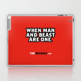 WHEN MAN AND BEST ARE ONE. Laptop & iPad Skin