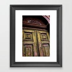 Green Door 2 Framed Art Print