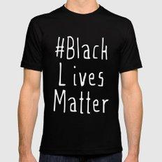 #Black Lives Matter Mens Fitted Tee Black MEDIUM
