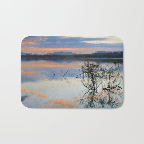"""Magic sky"". Sunset at the lake. Bath Mat"