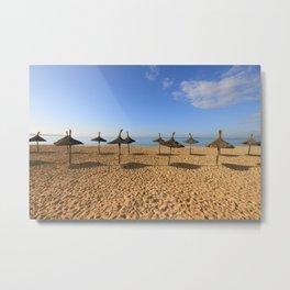Playa de Palma winter Metal Print