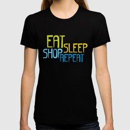 Eat Sleep Shop Repeat T-shirt