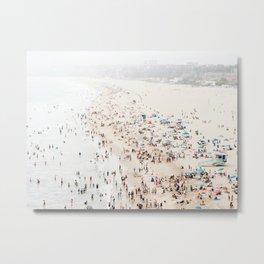 California Beach Print  Metal Print