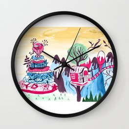 Cake mountain Wall Clock