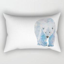 Geometric Polar Bear Rectangular Pillow