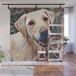 Yellow Labrador Retriever Wall Mural