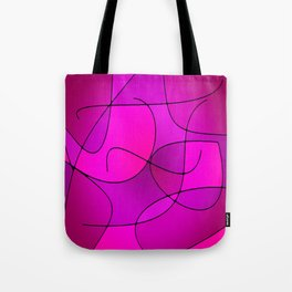 ABSTRACT CURVES #1 (Purples, Violets, Fuchsias & Magentas) Tote Bag