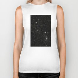 Universe Space Stars Planets Galaxy Black and White Biker Tank