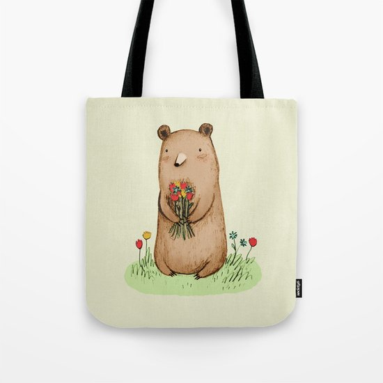 Bear Bouquet Tote Bag