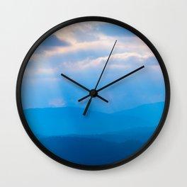 Smoky Mountain Rays Wall Clock