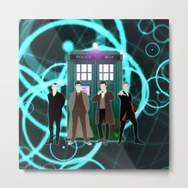 Tardis Shine The Doctor Metal Print