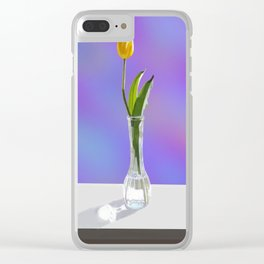 Yellow Tulip Clear iPhone Case