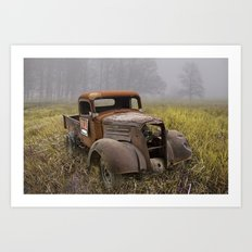 Vintage Chevy Pickup for Sale in a Field of Grass Art Print