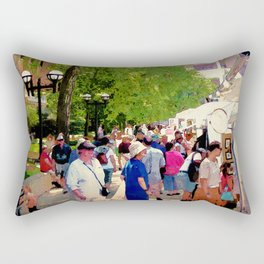 Art Patrons Rectangular Pillow