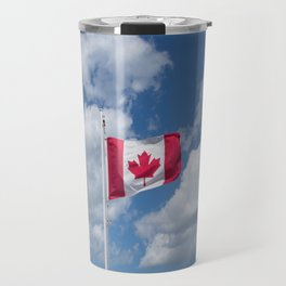 Maple Leaf Flag Flying High Travel Mug