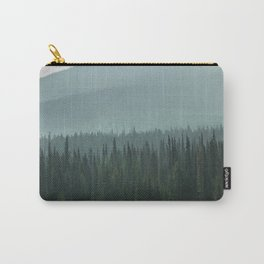 Misty Pine Trees Photography, Forest Mountain Landscape Photography Carry-All Pouch