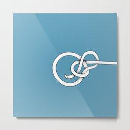 blue knot Metal Print