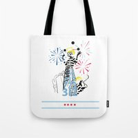 politics Tote Bags featuring Chicago Politics by AMP-CRAYON