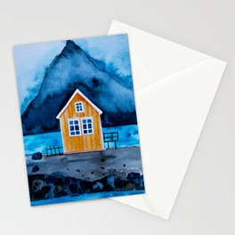 Norway Lofoten Oranges House Stationery Cards