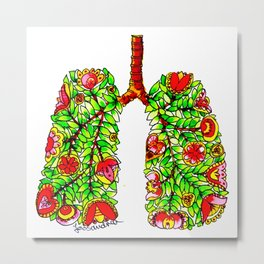 Lungs of the Earth Anatomy Metal Print