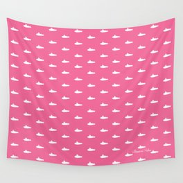 Tiny Subs - Pink Wall Tapestry