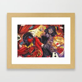 The Cirque's Illusions Framed Art Print