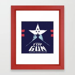TOP GUN 1980 Poster Modified Framed Art Print